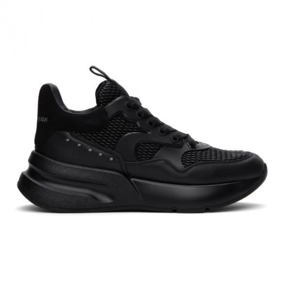 Alexander McQueen Black Textured Oversized Runner Sneakers - 604281WHZT7