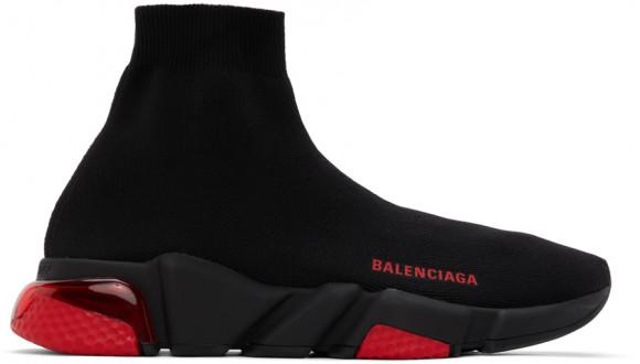 Balenciaga Black & Red Clear Sole Speed Sneakers - 607544-W2DI1-1016