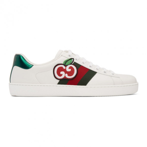 Gucci White GG Apple Ace Sneakers - 611376-DOPE0