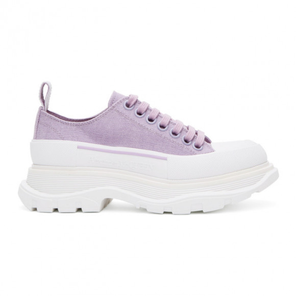 Alexander McQueen SSENSE Exclusive Purple Tread Slick Platform Low Sneakers - 611705W4ML3