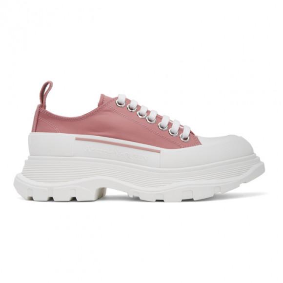 Alexander McQueen Pink Satin Tread Slick Sneakers - 611705W4PU1