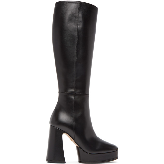 Gucci Black Leather Knee-High Boots - 616603 BKO00