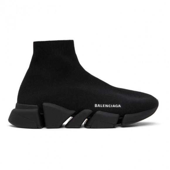 Balenciaga Black Speed 2.0 Sneakers - 617239-W2DB1