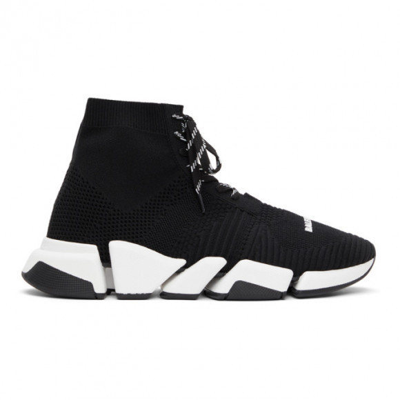 Balenciaga Black Lace-Up Speed 2.0 Sneakers - 617258-W2DB2