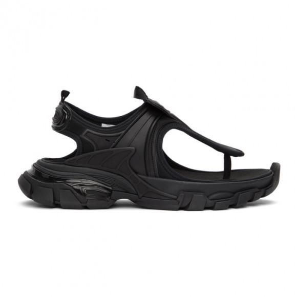 Balenciaga Black Slingback Thong Sandals - 618089-W2PA1