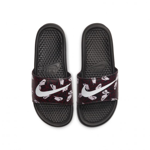 Nike Benassi JDI Floral Chanclas - Mujer - Negro - 618919-033