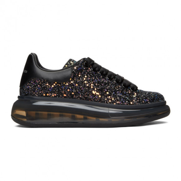 Alexander McQueen SSENSE Exclusive Black Galaxy Glitter Oversized Sneakers - 621716-W4JG3