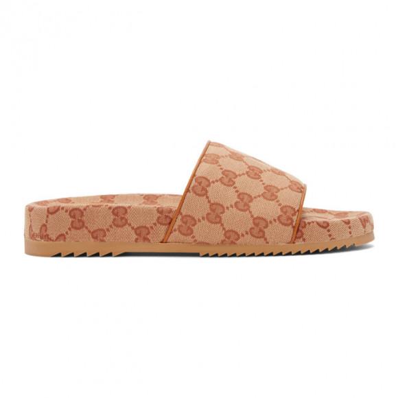 Gucci Beige GG Sideline Sandals - 624695-H6320