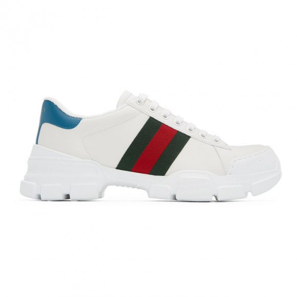 Gucci White Nathane Sneakers - 624701-0FI60