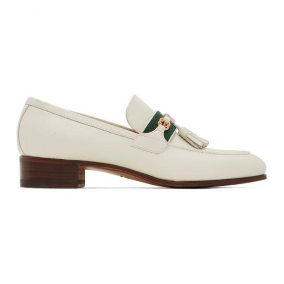 Gucci Off-White Interlocking G Loafers - 624720-1W610