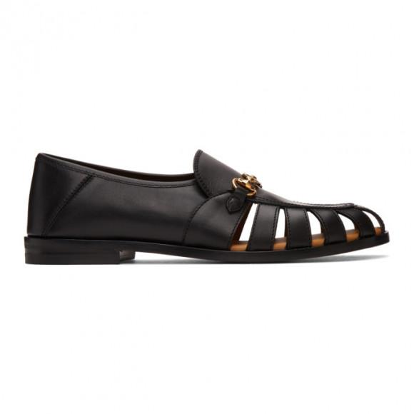Gucci Brown Interlocking G Horsebit Loafers - 624848-DTN00