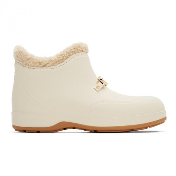 Gucci Off-White Rubber Horsebit Chelsea Boots - 626692-JCCO0