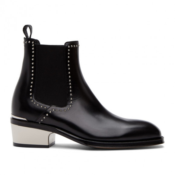 Alexander McQueen Black Leather Chelsea Boots - 627209WHYI1
