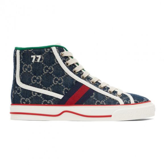 Gucci Blue Tennis 1977 High Sneakers - 627838-2KQ90