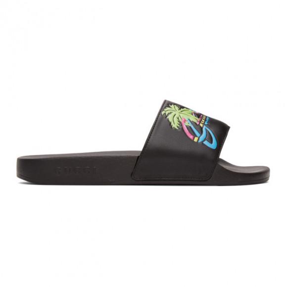 Gucci Black Gucci Hawaii Pool Slides - 630601-DIR00