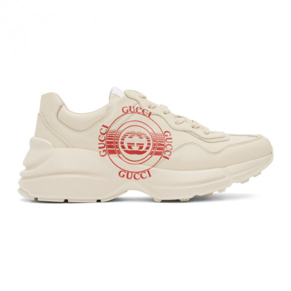 Gucci Beige Disc Print Rython Sneakers - 630607-DRW00