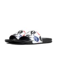 Nike Mens Nike Benassi JDI Slide - Mens Shoes Black/Black/White/Multi Print Size 14.0 - 631261-035