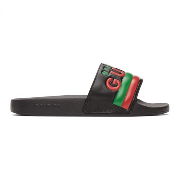 Gucci Black Original Gucci Pool Slides - 632183-DIR00