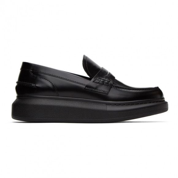 Alexander McQueen Black Leather Loafers - 633911WHX50