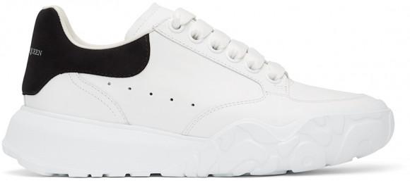 Alexander McQueen White & Black Court Trainer Sneakers - 633915WIA9A