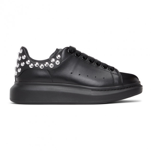 Alexander McQueen Black and Silver Oversized Sneakers - 634606WHYBN