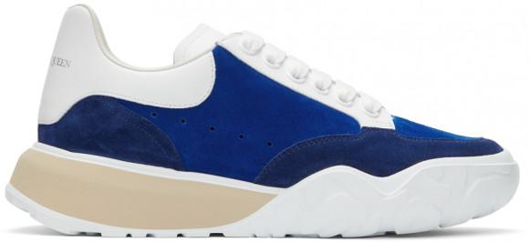 Alexander McQueen Blue Suede Court Trainer Sneakers - 634618WHWJ9