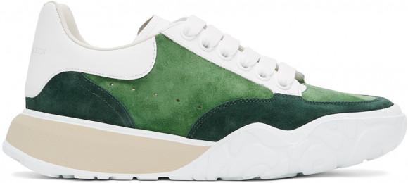 Alexander McQueen Green Suede Court Trainer Sneakers - 634618WHWJA