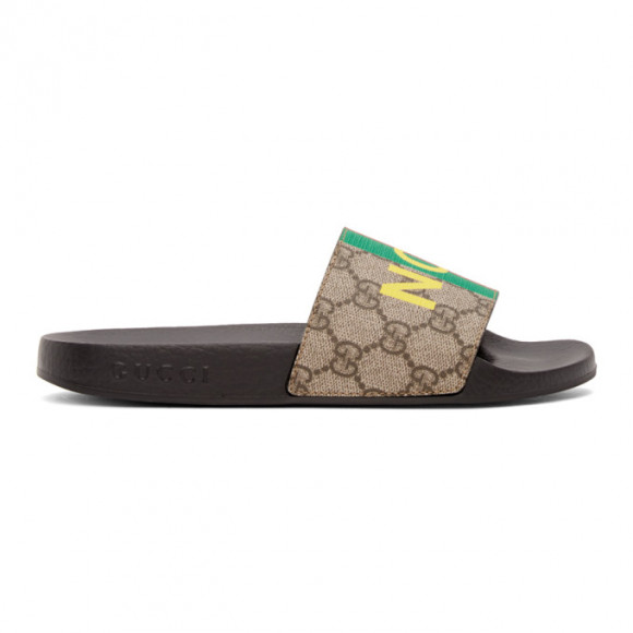 Gucci Brown Not Fake GG Sandals - 636345-2GC00