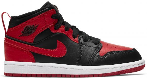 Air Jordan 1 Mid Rouge/noir - Enfant -