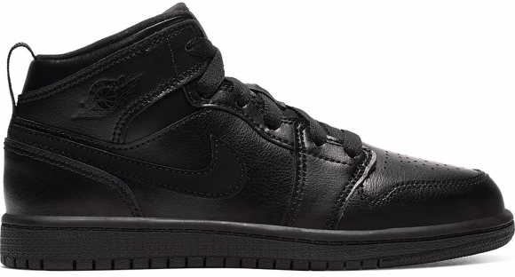 Jordan 1 Mid Black (PS) - 640734-090