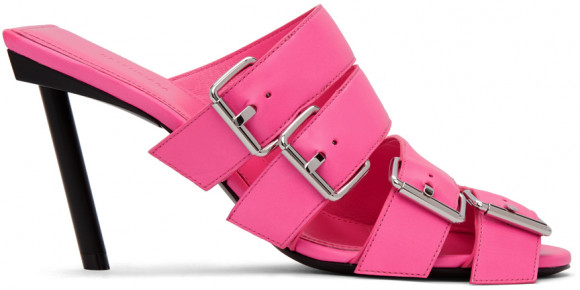 Balenciaga Pink Buckle Heeled Sandals - 643144-WA8FE