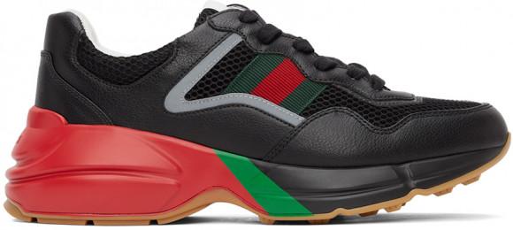Gucci Black Rhyton Sneakers - 643491-2H040