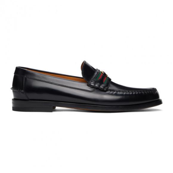 Gucci Burgundy Interlocking G Loafers - 644724-17X10