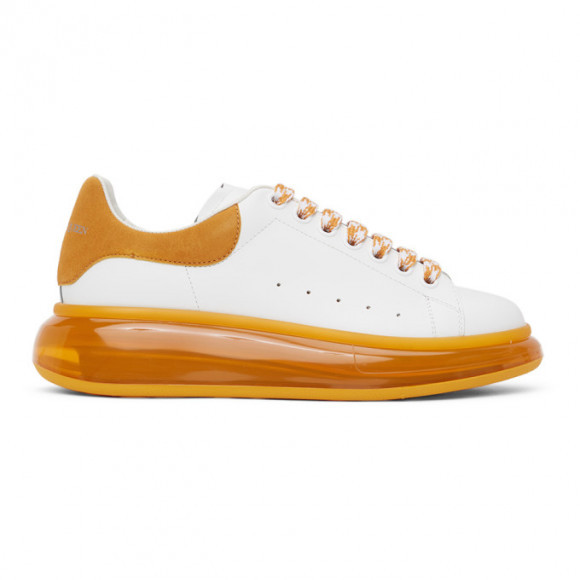 Alexander McQueen White and Orange Oversized Sneakers - 645871WHGP7
