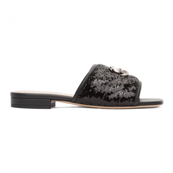 Gucci Pink Sequin GG Slides - 646552-2MO40