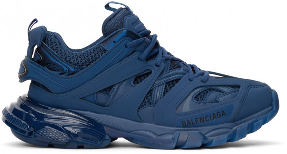 Balenciaga Blue Track Clear Sole Sneakers - 647742-W3BM2-4000
