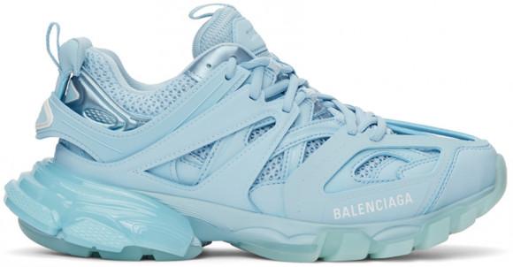 Balenciaga Blue Track Clear Sole Sneakers - 647742-W3BM2-4200