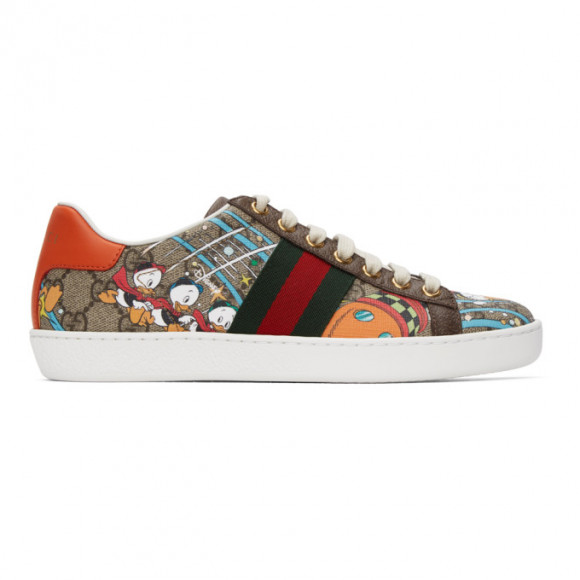 Gucci Brown Disney Edition Donald Duck GG Ace Sneakers - 647950-2M110