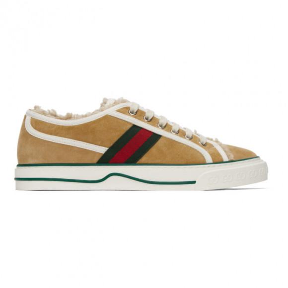Gucci Beige Suede Gucci Tennis 1977 Low-Top Sneakers - 649329-UAE10