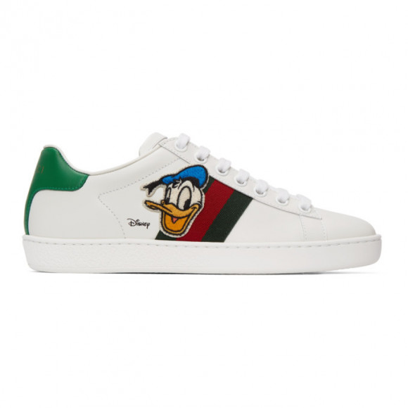 Gucci White Disney Edition Donald Duck Ace Sneakers - 649399-1XG60