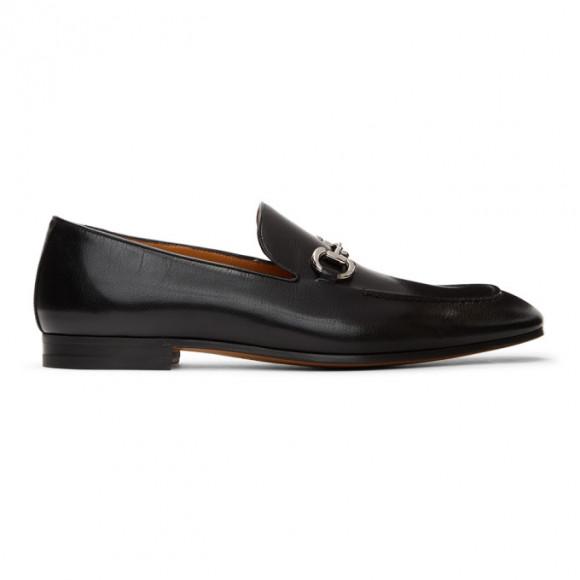 Gucci Black Horsebit Loafers - 649479-0G0V0