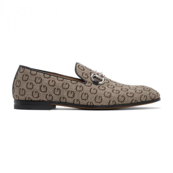 Gucci Beige G Horsebit Loafers - 649480-2KU10