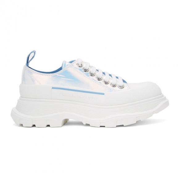 Alexander McQueen Silver Holographic Tread Slick Platform Low Sneakers - 650780-W4PC1