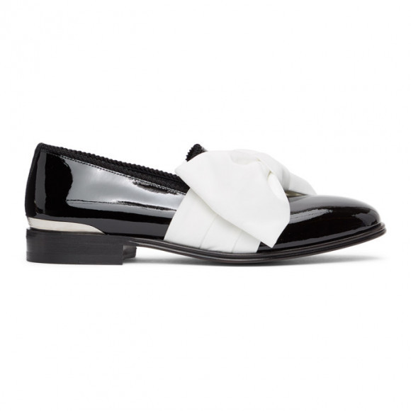 Alexander McQueen Black and White Leather Loafers - 651624WHJUZ