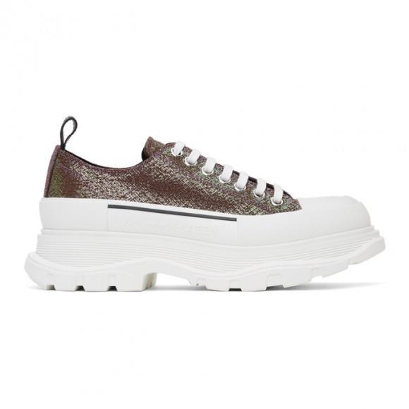 Alexander McQueen Purple Iridescent Platform Sneakers - 652755W4PB1