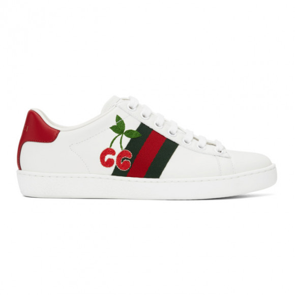 Gucci Off-White Cherry Ace Sneakers - 653135-1XG60