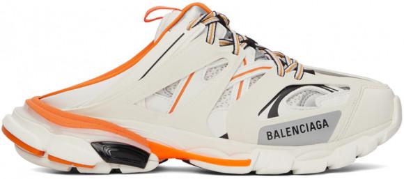 Balenciaga White & Orange Track Mule Sneakers - 653814-W3CP5-9059