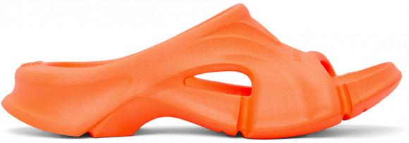 Balenciaga Orange Mold Slide Sandals - 653873-W3CH2