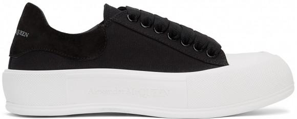 Alexander McQueen Black & White Deck Plimsoll Sneakers - 654594W4MV7