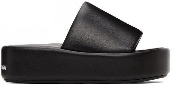 Balenciaga Black Rise Sandals - 656960-WA2M3